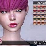 Lips 227 sims 4 cc