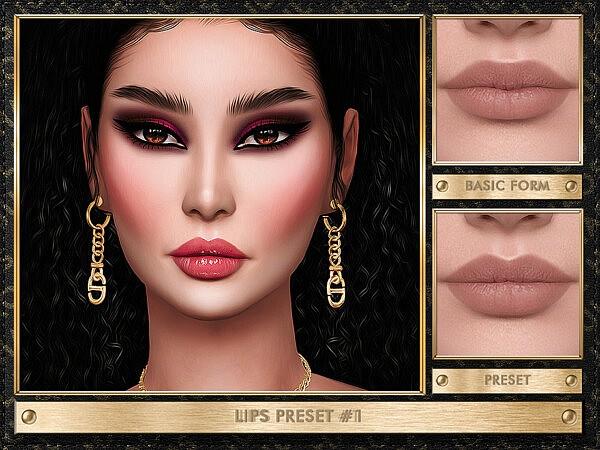Lips Preset 1 sims 4 cc