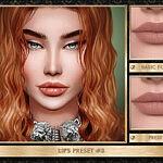 Lips Preset 3 sims 4 cc