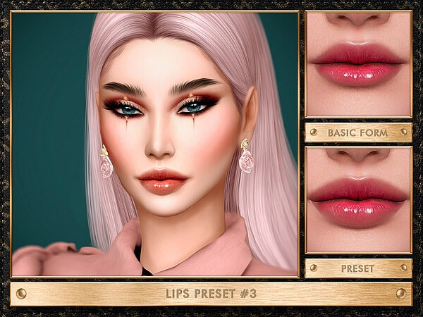 Lips Preset 7 sims 4 cc