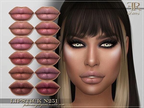 Lipstick N251 by FashionRoyaltySims from TSR
