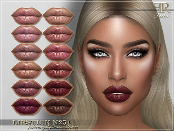 Lipstick N254 by FashionRoyaltySims from TSR