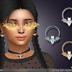 Little Bat Hoop Earrings For Kids sims 4 cc