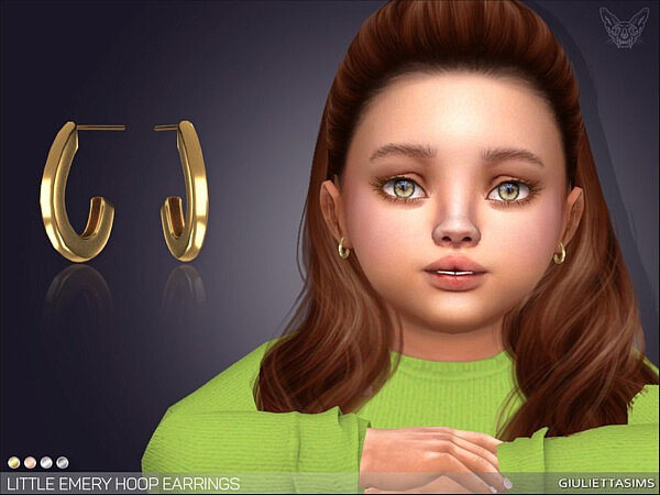 Little Emery Hoop Earrings For Toddlers sims 4 cc