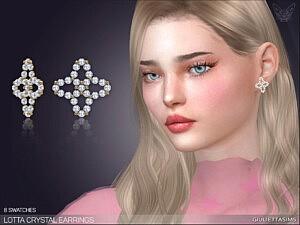 Lotta Crystal Earrings sims 4 cc