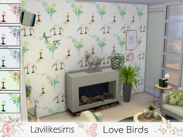 Love Birds Walls sims 4 cc