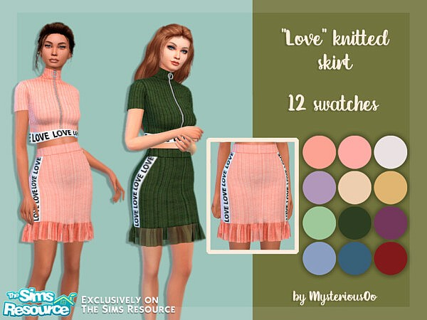 Love knitted skirt sims 4 cc