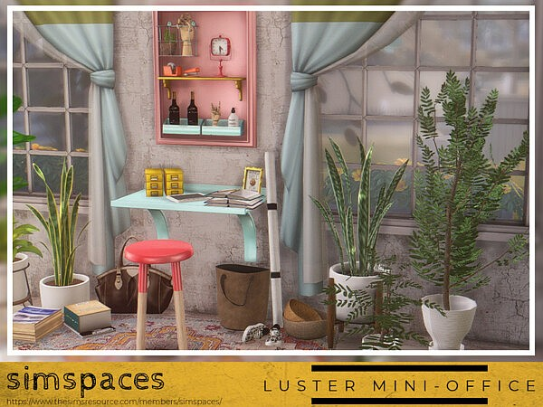 Luster Mini Office sims 4 cc