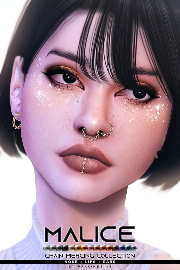 MALICE Chain Piercing Collection sims 4 cc