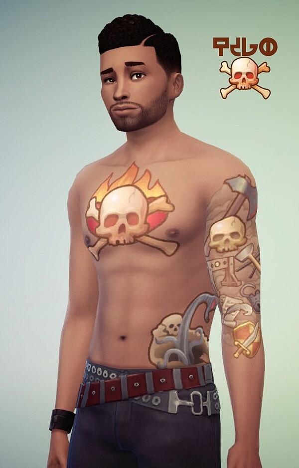 Medieval Tattoo sims 4 cc