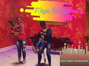 Mega Siblings sims 4 cc