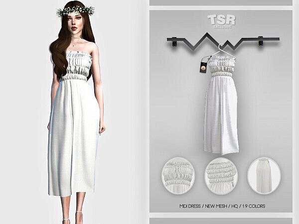 Midi Dress BD457 by busra tr from TSR
