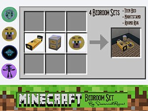 Minecraft Bedroom Set sims 4 cc