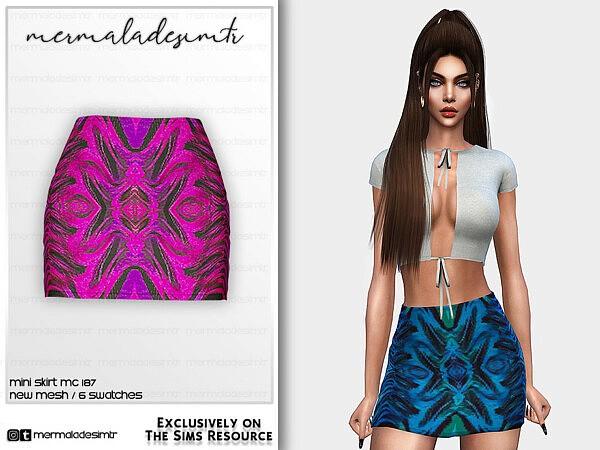 Mini Skirt MC187 sims 4 cc