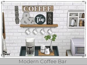 Modern Coffee Bar sims 4 cc
