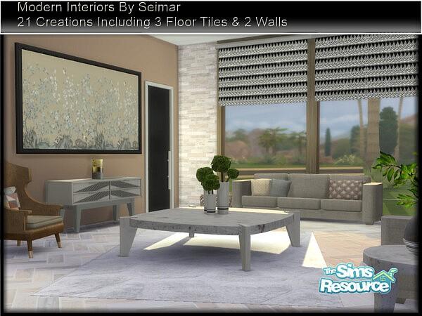 Modern Interiors Living Set sims 4 cc