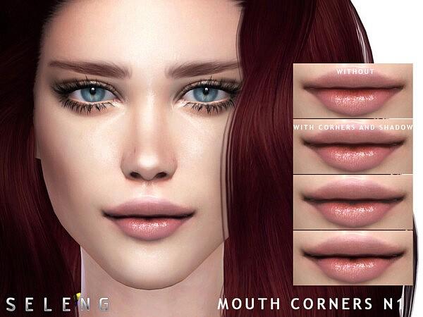 Mouth Corners N1 sims 4 cc