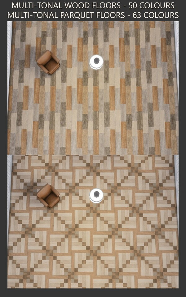 Multi tonal Wood and Parquet Floors by Simmiller from Mod The Sims
