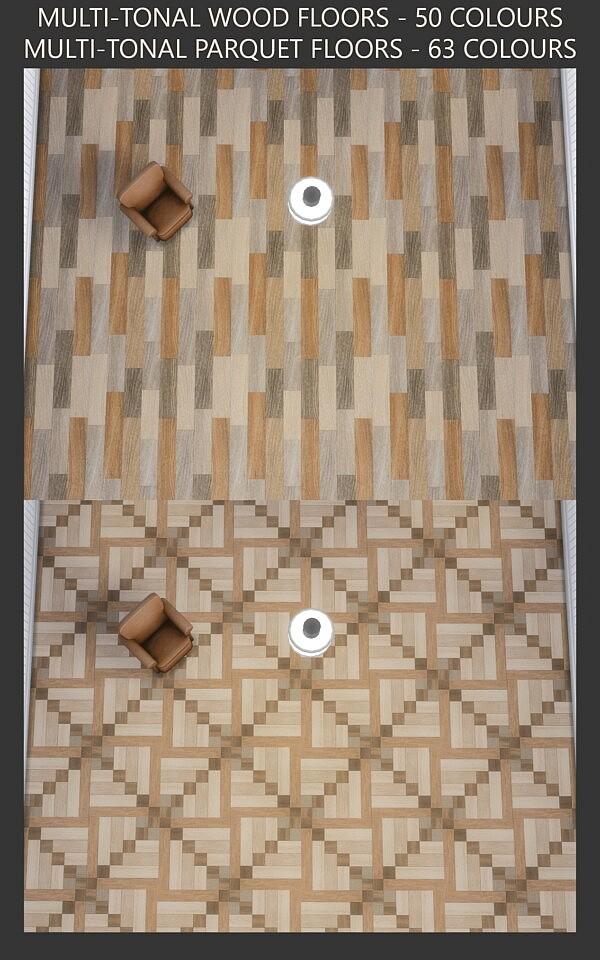 Multi tonal Wood and Parquet Floors sims 4 cc