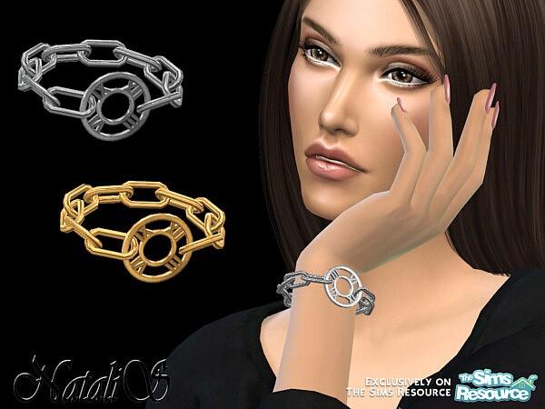 NataliS Roman numeral chain bracelet