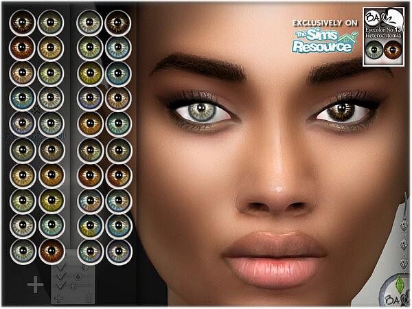 Natural eye colors 13 sims 4 cc
