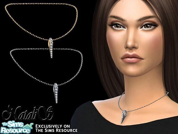 Needle necklace short sims 4 cc