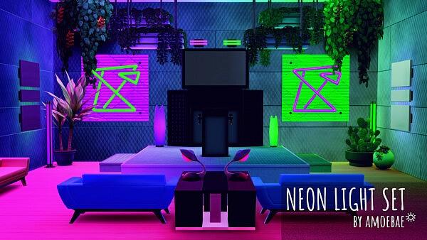 Neon Light Set sims 4 cc