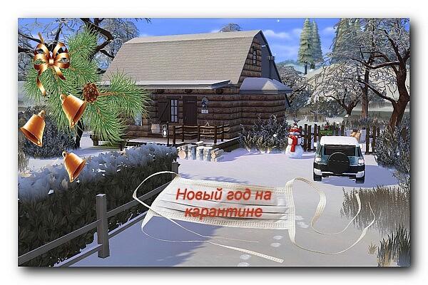 New Year in quarantine Lot sims 4 cc