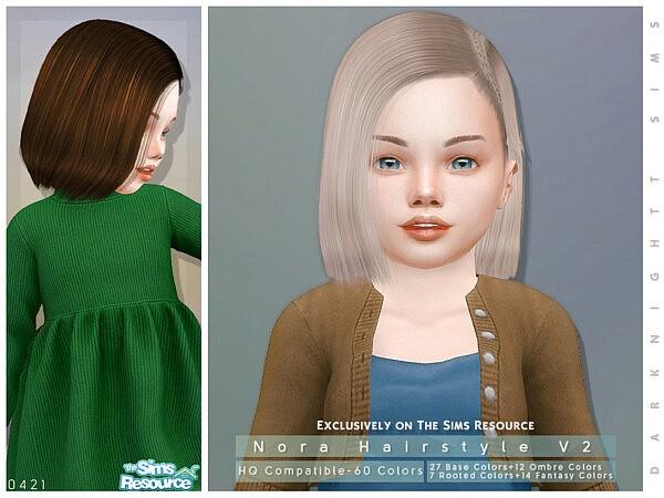 Nora Hair V2 by DarkNighTt from TSR