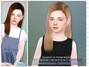 Nora Hair sims 4 cc
