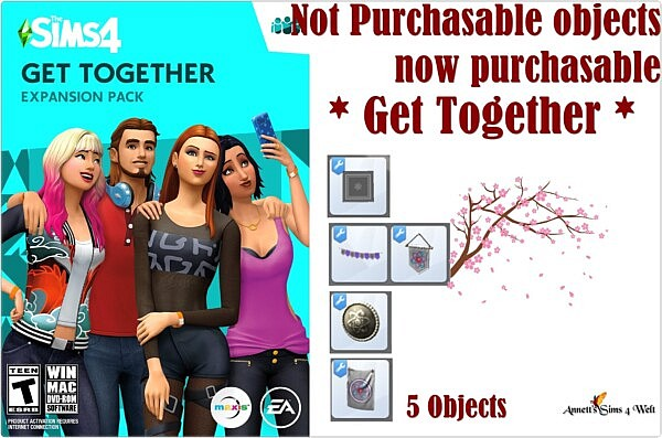 Not Purchasable objects now purchasable Get Together sims 4 cc