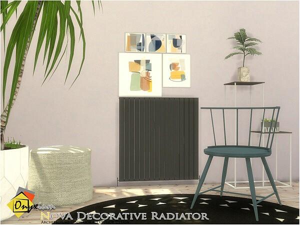 Nova Decorative Radiator sims 4 cc