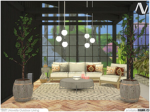 Novella Outdoor Living sims 4 cc