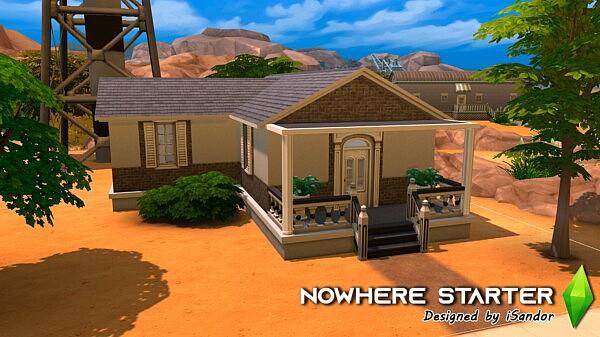 Nowhere starter house sims 4 cc