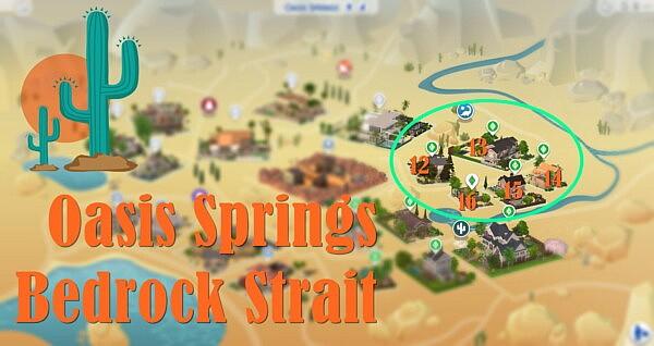 Oasis Springs Bedrock Strait sims 4 cc
