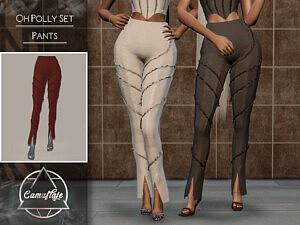 Oh Polly Set Pants sims 4 cc