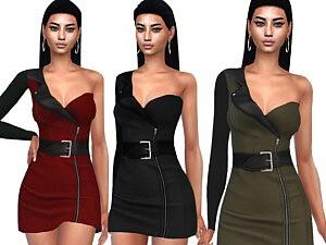 One Shoulder Formal Dresses sims 4 cc