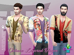 Oshare Layered Blazer sims 4 cc