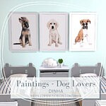 Painting Dog Lovers Free sims 4 cc