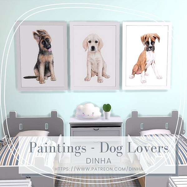 Painting   Dog Lovers Free from Dinha Gamer