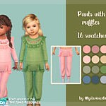 Pants with ruffles sims 4 cc