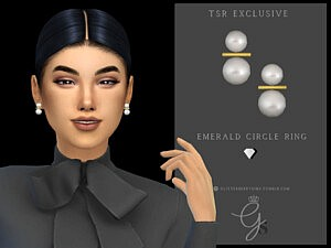 Pearl Gold Earrings sims 4 cc