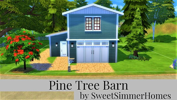 Pine Tree Barn sims 4 cc