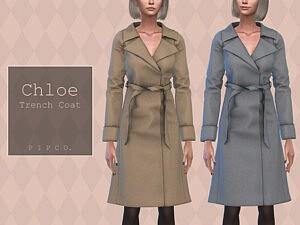 Pipco Chloe Trench Coat sims 4 cc