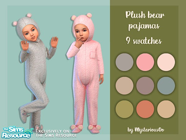Plush bear pajamas sims 4 ccc