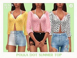 Polka Dot Summer Top sims 4 cc
