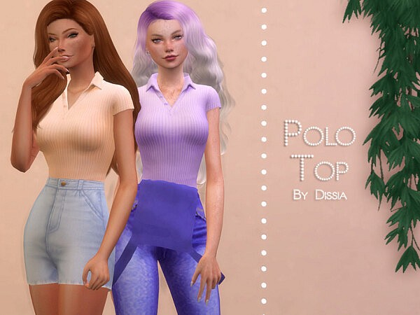Polo Top sims 4 cc
