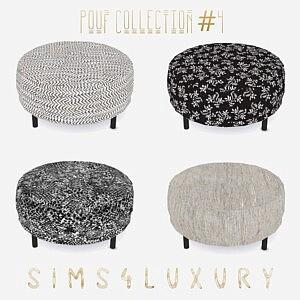 Pouf Collection sims 4 cc