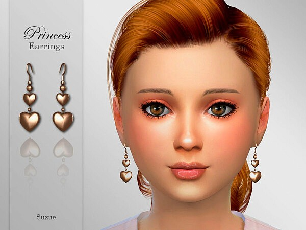Princess Child Earrings sims 4 cc