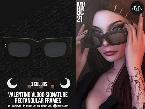 Rectangular Acetate Frames sims 4 cc